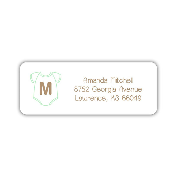 Baby shower address labels - Mint - Dazzling Daisies