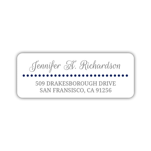 Return address labels 'Dots Galore' - Navy - Dazzling Daisies