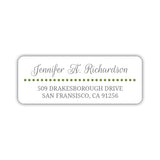 Return address labels 'Dots Galore' - Olive - Dazzling Daisies