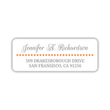 Return address labels 'Dots Galore' - Orange - Dazzling Daisies