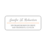 Return address labels 'Dots Galore' - Peach - Dazzling Daisies