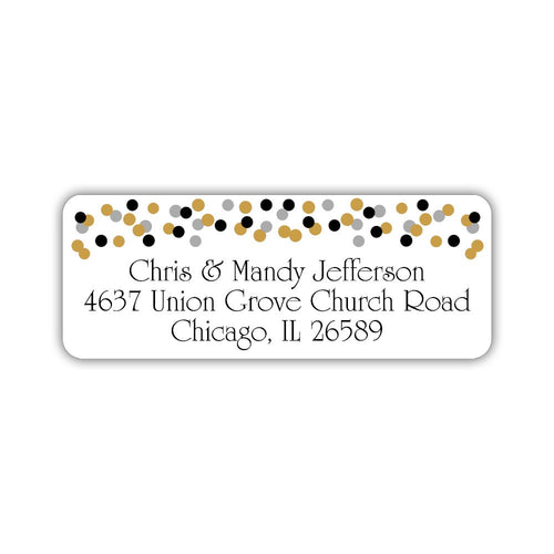 Return address labels 'Modern Confetti' -  - Dazzling Daisies