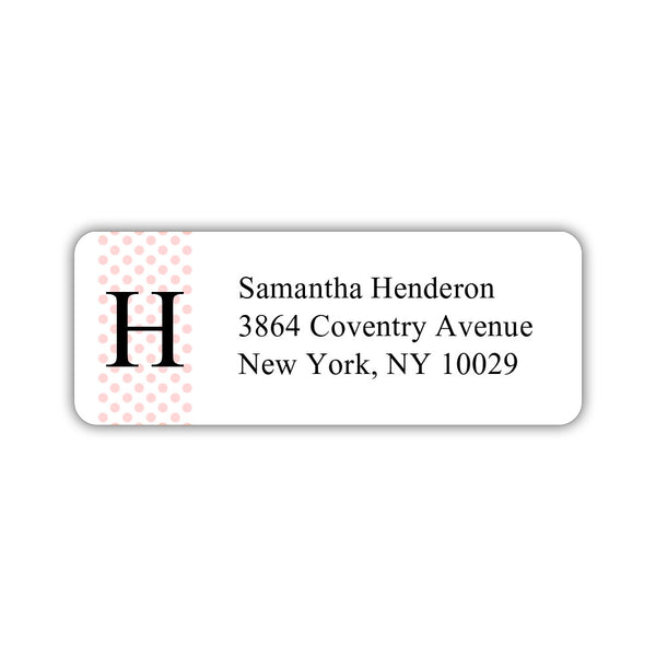 Return address labels 'Geometric Polka Dots' - Blush - Dazzling Daisies