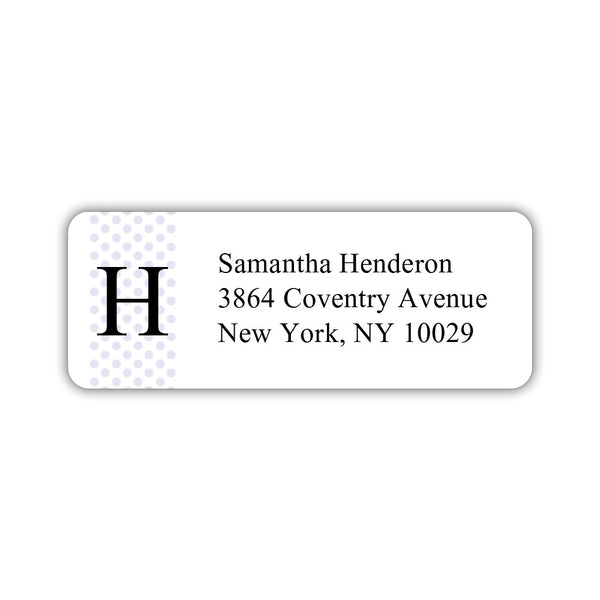 Return address labels 'Geometric Polka Dots' - Lavender - Dazzling Daisies