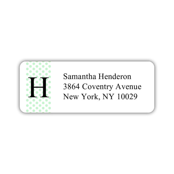 Return address labels 'Geometric Polka Dots' - Mint - Dazzling Daisies