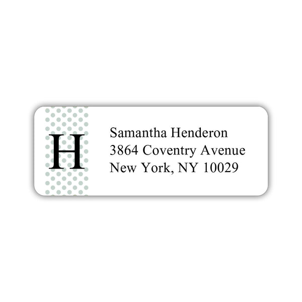 Return address labels 'Geometric Polka Dots' - Sage - Dazzling Daisies