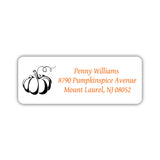 Return address labels 'Pumpkin Spice' - Black - Dazzling Daisies