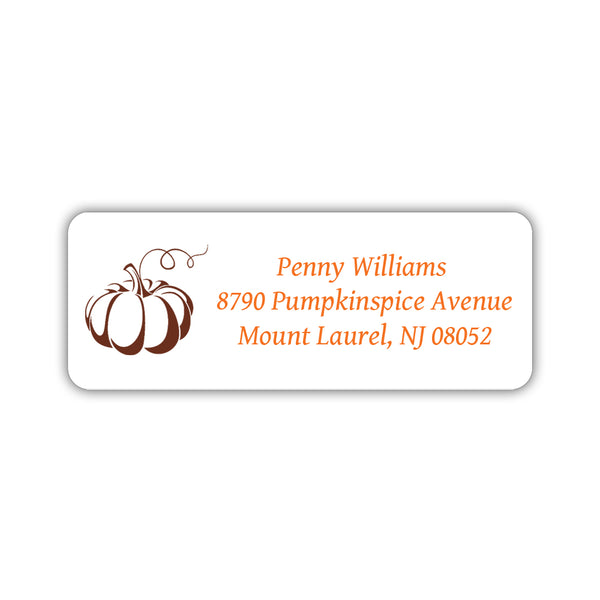 Return address labels 'Pumpkin Spice' - Chocolate - Dazzling Daisies