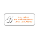 Return address labels 'Pumpkin Spice' - Gray - Dazzling Daisies