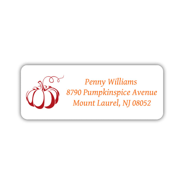 Return address labels 'Pumpkin Spice' - Indian red - Dazzling Daisies