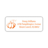 Return address labels 'Pumpkin Spice' - Orange - Dazzling Daisies