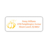 Return address labels 'Pumpkin Spice' - Yellow - Dazzling Daisies