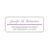 Return address labels 'Dots Galore' - Purple - Dazzling Daisies