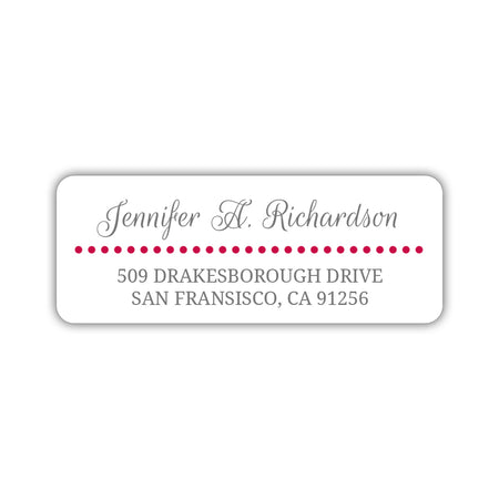 Round return address labels 'Baby Feet'