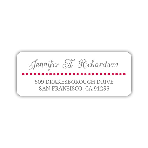 Return address labels 'Dots Galore' - Raspberry - Dazzling Daisies