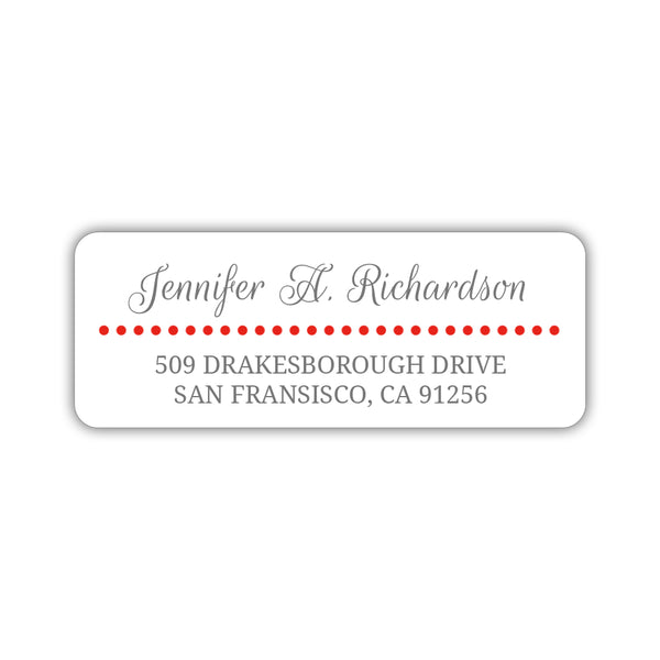 Return address labels 'Dots Galore' - Red - Dazzling Daisies
