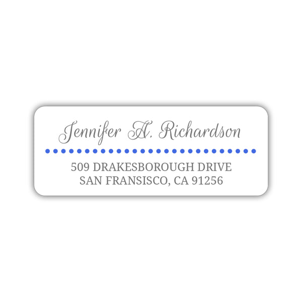 Return address labels 'Dots Galore' - Royal blue - Dazzling Daisies