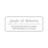 Return address labels 'Dots Galore' - Sage - Dazzling Daisies