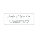 Return address labels 'Dots Galore' - Sand - Dazzling Daisies
