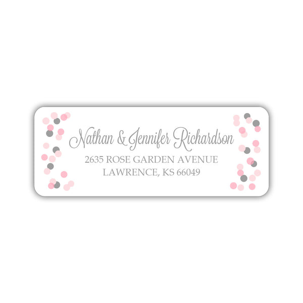 Return address labels 'Cheery Confetti' - Silver - Dazzling Daisies