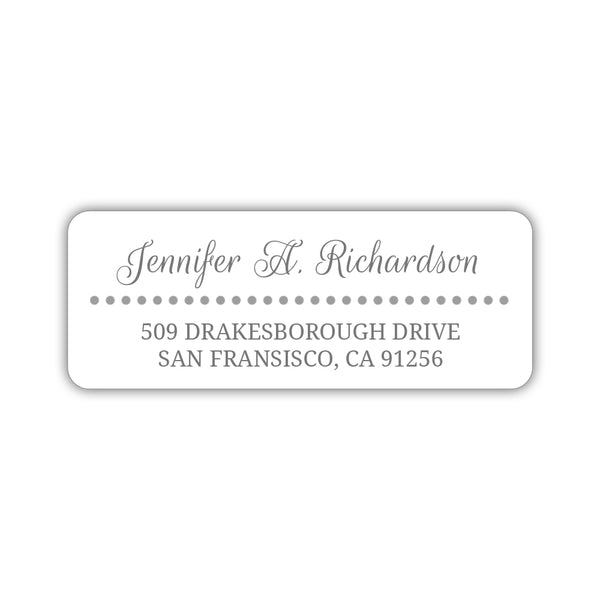 Return address labels 'Dots Galore' - Silver - Dazzling Daisies