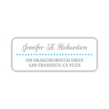 Return address labels 'Dots Galore' - Sky blue - Dazzling Daisies