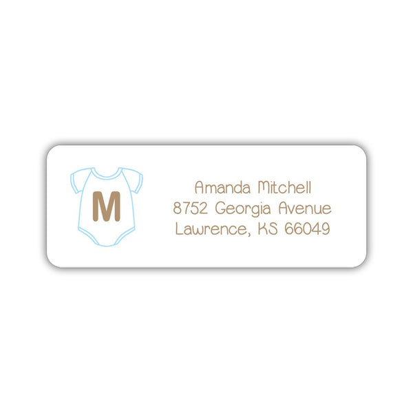 Baby shower address labels - Sky blue - Dazzling Daisies