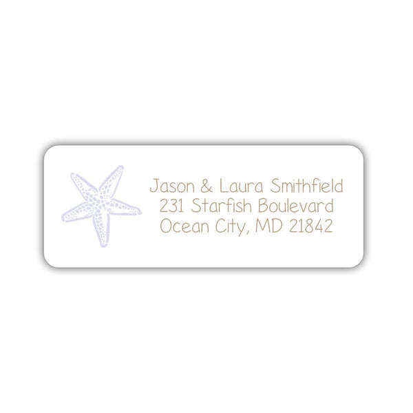 Beach return address labels - Lavender - Dazzling Daisies
