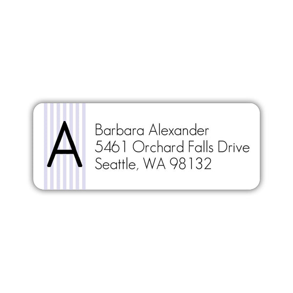 Modern address labels 'Clean Stripe' - Lavender - Dazzling Daisies