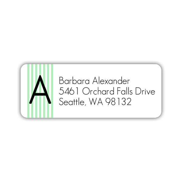 Modern address labels 'Clean Stripe' - Mint - Dazzling Daisies