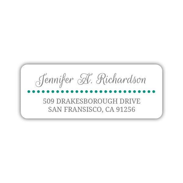 Return address labels 'Dots Galore' - Teal - Dazzling Daisies