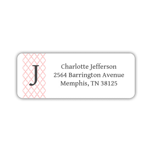 Return address labels 'Subtle Trellis' - Blush - Dazzling Daisies