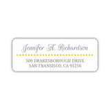 Return address labels 'Dots Galore' - Yellow - Dazzling Daisies