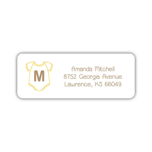 Baby shower address labels - Yellow - Dazzling Daisies