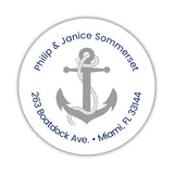 Round return address labels 'Anchor Focus' - Silver - Dazzling Daisies