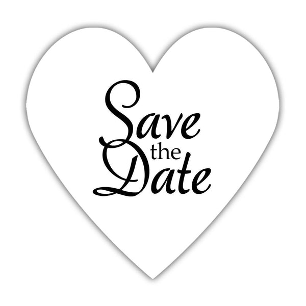 Romantic save the date stickers - Black - Dazzling Daisies