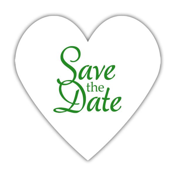 Romantic save the date stickers - Green - Dazzling Daisies