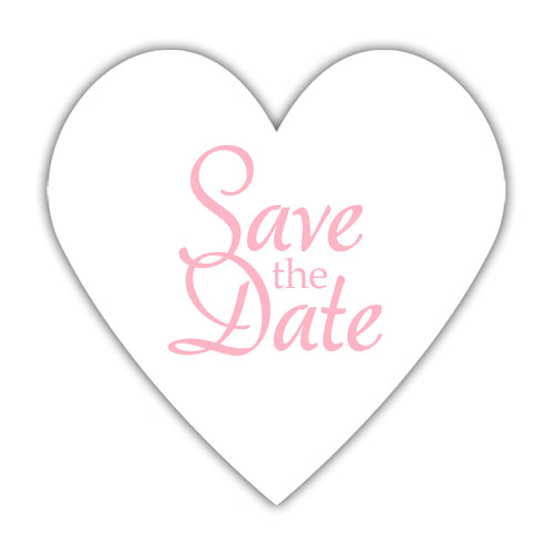 Romantic save the date stickers - Pink - Dazzling Daisies