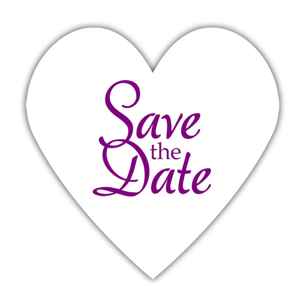 Romantic save the date stickers - Purple - Dazzling Daisies