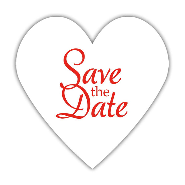 Romantic save the date stickers - Red - Dazzling Daisies