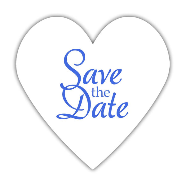 Romantic save the date stickers - Royal blue - Dazzling Daisies