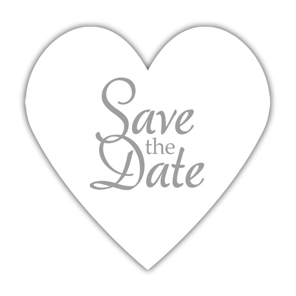 Romantic save the date stickers - Silver - Dazzling Daisies