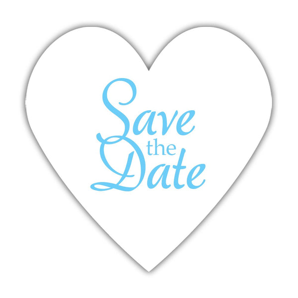 Romantic save the date stickers - Sky blue - Dazzling Daisies