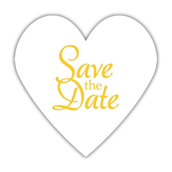 Romantic save the date stickers - Yellow - Dazzling Daisies