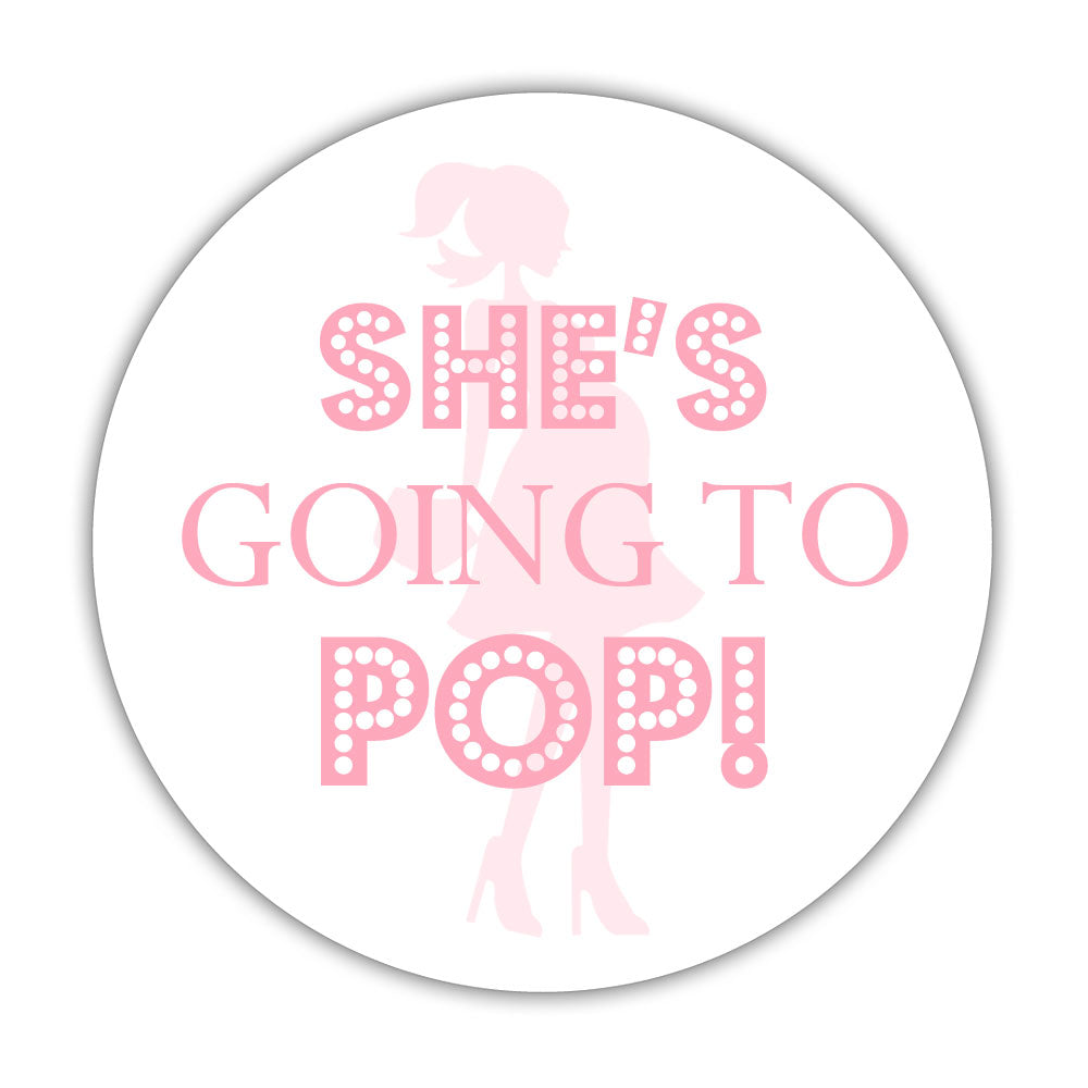 She S Ready To Pop Stickers Dazzling Daisies