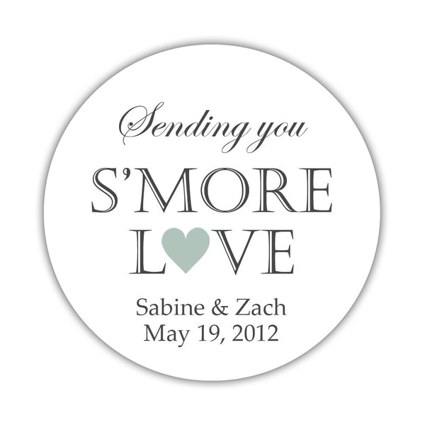 "S'more love stickers - 1.5"" circle = 30 labels per sheet / Sage - Dazzling Daisies"