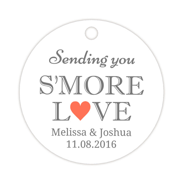 S'more love tags - Coral - Dazzling Daisies