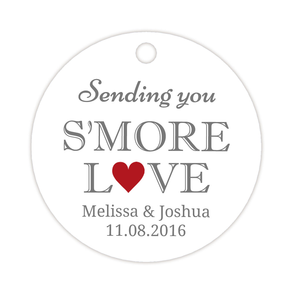 S\'more love tags - Wedding favor tags | Dazzling Daisies