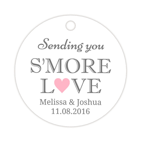 S'more love tags - Pink - Dazzling Daisies