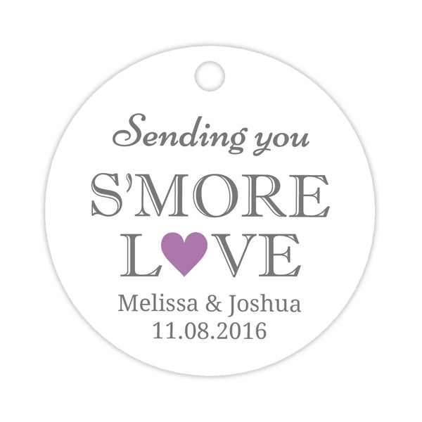 S'more love tags - Plum - Dazzling Daisies
